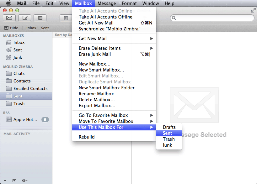 Mac Mail: New Account Setup for Zimbra   Department of